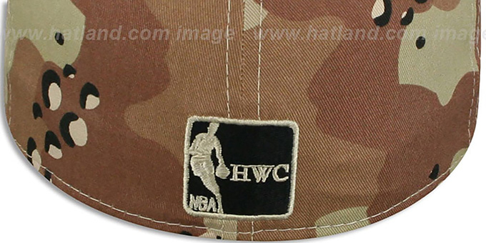 Hornets 'MIGHTY-XL' Desert Storm Camo Fitted Hat by New Era