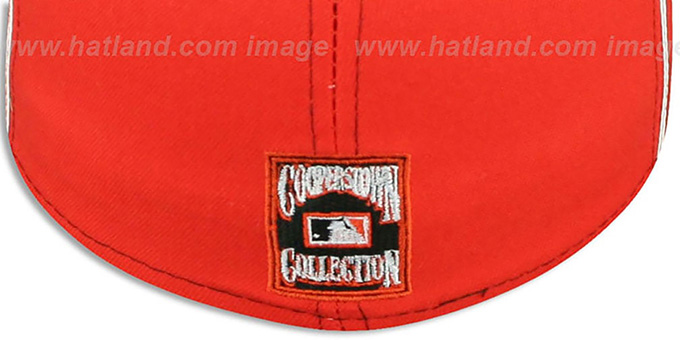 Houston Astros COOP 'DECEPTOR-2 PINWHEEL' Navy-Orange Fitted Hat