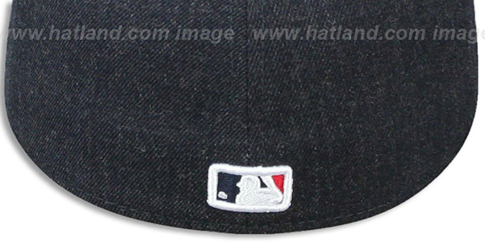 Indians '2T-HEATHER ACTION' Navy-Red Fitted Hat by New Era