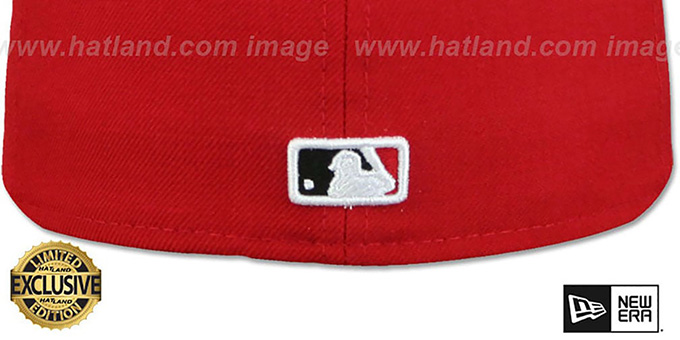 Indians 'CHIEF-WAHOO' Red-Black Fitted Hat by New Era