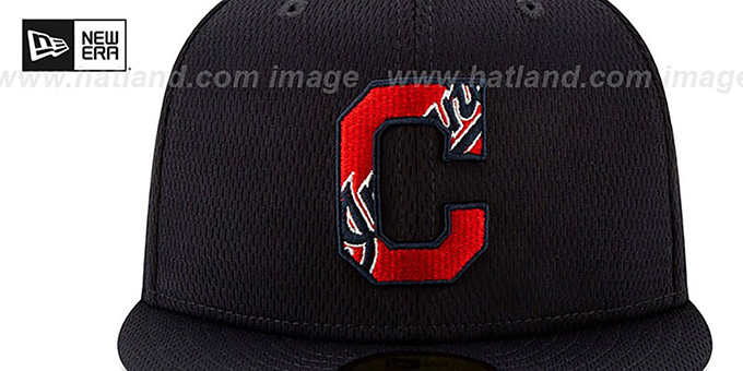 Indians 'DASHMARK BP' Navy Fitted Hat by New Era