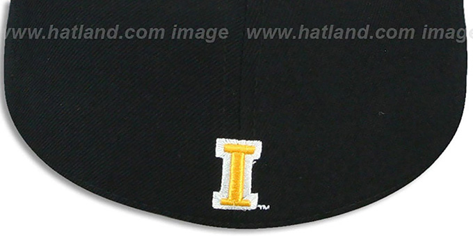 Iowa 'DHS' Black Fitted Hat by Zephyr