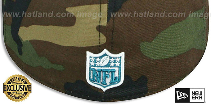 Jaguars 'NFL TEAM-BASIC' Army Camo Fitted Hat by New Era
