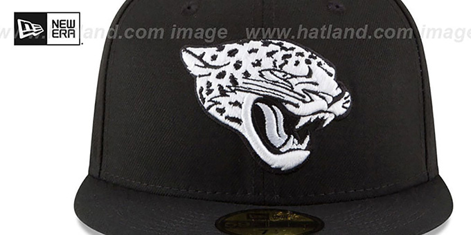 Jaguars 'NFL TEAM-BASIC' Black-White Fitted Hat by New Era