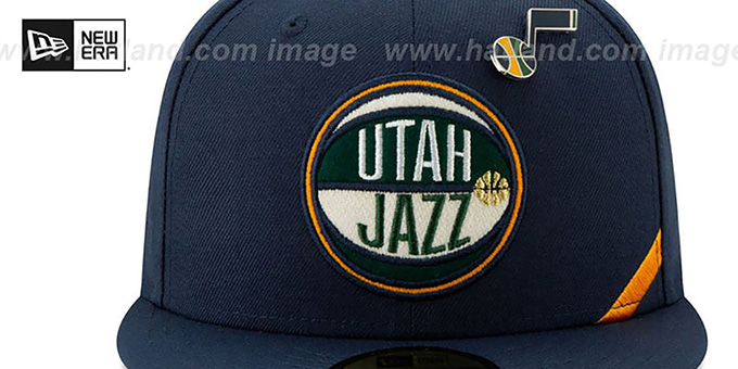 Jazz '2019 NBA DRAFT' Navy Fitted Hat by New Era
