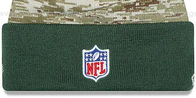 Jets '2015 SALUTE-TO-SERVICE' Knit Beanie Hat by New Era