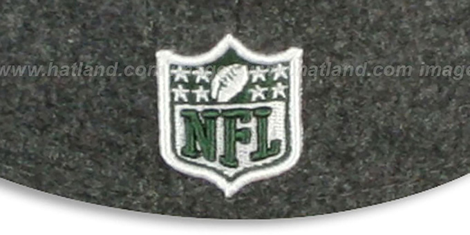 Jets '2T NFL MELTON-BASIC' Grey-Green Fitted Hat by New Era
