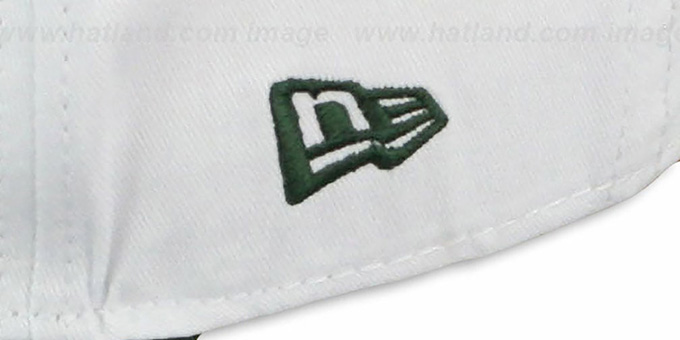 Jets 'BIGSIDE A-FRAME SNAPBACK' White-Green Hat by New Era