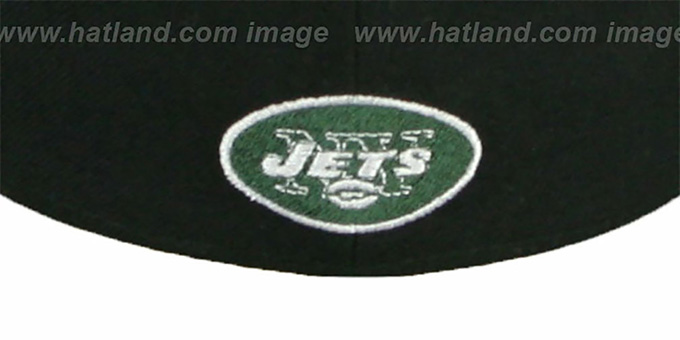 Jets 'NFL 2T CHOP-BLOCK' Black-Green Fitted Hat by New Era