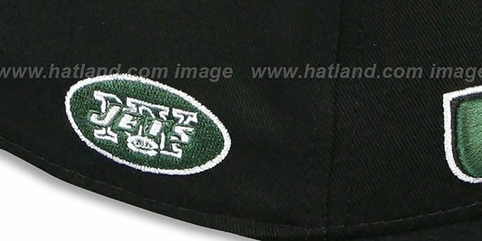 Jets 'NFL SOLID SNAPBACK' Black Hat by New Era
