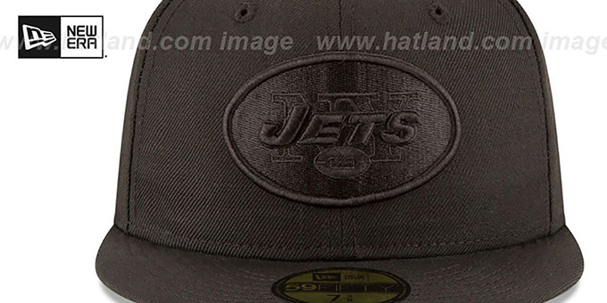Jets 'NFL TEAM-BASIC BLACKOUT' Fitted Hat by New Era