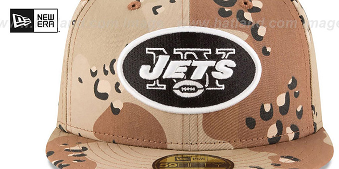 Jets 'NFL TEAM-BASIC' Desert Storm Camo Fitted Hat by New Era