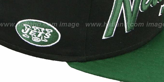 74beabb41eb ... Jets  SNAP-IT-BACK SNAPBACK  Black-Green Hat by New Era ...