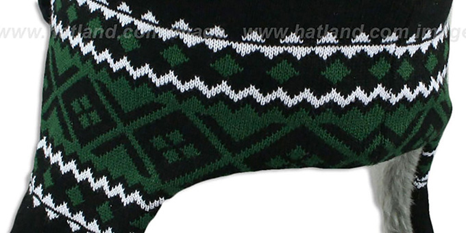 Jets 'TRAPPER' Black Knit Hat by New Era