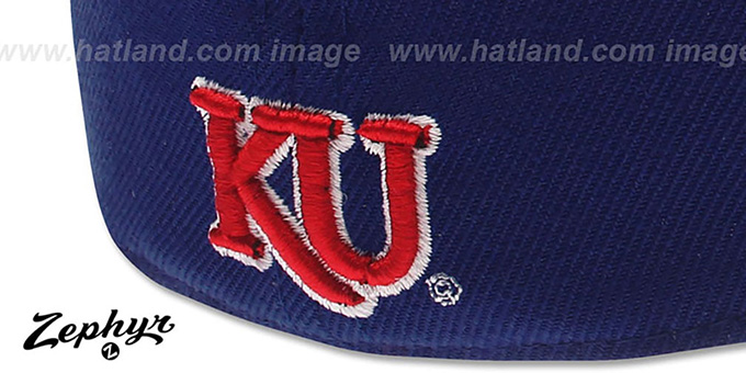 Kansas 'DHS' Royal Fitted Hat by Zephyr