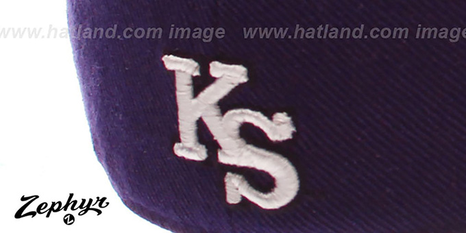 Kansas State 'DHS' Fitted Hat by ZEPHYR - purple