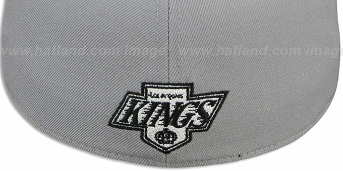 Kings '2T XL-WORDMARK' Grey-Black Fitted Hat by Mitchell & Ness