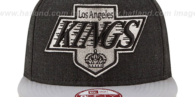 Kings 'LOGO GRAND SNAPBACK' Charcoal-Grey Hat by New Era