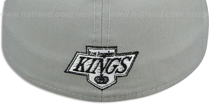 Kings 'SCRIPT TEAM-BASIC' Grey-Black Fitted Hat by New Era
