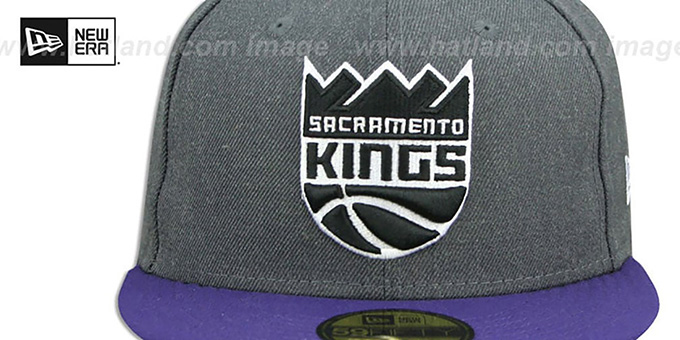 Kings 'SHADER MELT-2' Grey-Purple Fitted Hat by New Era