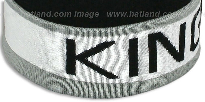 Kings 'THE-BUTTON' Knit Beanie Hat by Michell & Ness