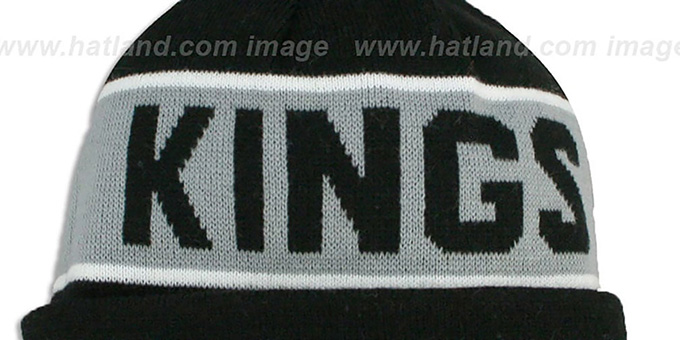 Kings 'THE-COACH' Black Knit Beanie Hat by New Era