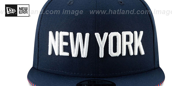 e789846586fde ... Knicks  18-19 CITY-SERIES SNAPBACK  Navy Hat by New Era ...