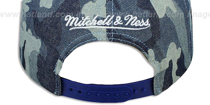 Knicks 'DENIM-CAMO SNAPBACK' Blue Hat by Mitchell and Ness