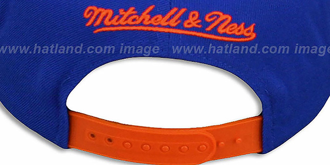 Knicks 'EARTHQUAKE SNAPBACK' Royal Hat by Mitchell and Ness