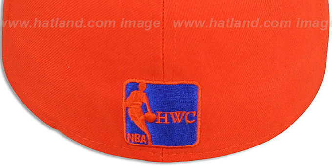 Knicks 'HWC-TIGHT' Orange-Royal Fitted Hat by New Era
