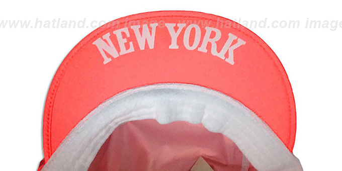 Knicks 'NEON PAINTER' Orange Hat by Mitchell and Ness