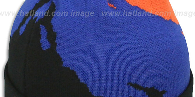 Knicks 'PAINTBRUSH BEANIE' by Mitchell and Ness
