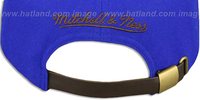 Knicks 'TC-BROWN SUEDE STRAPBACK' Hat Mitchell & Ness