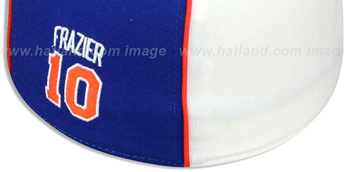 Knicks 'WALT FRAZIER SWINGMAN' White-Royal Fitted Hat by Reebok