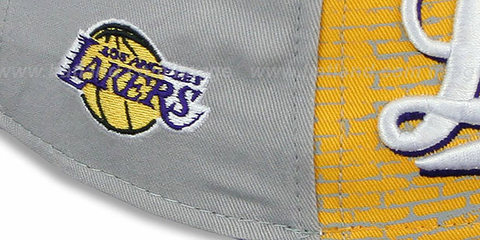 Lakers 'ESPN BRICK A-FRAME SNAPBACK' Hat by New Era