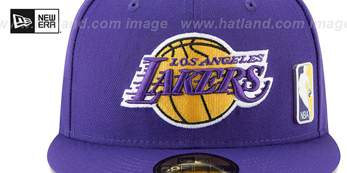 Lakers 'FLAWLESS PINNED-UP' Purple Fitted Hat by New Era