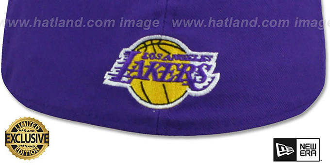 Lakers 'GOTHIC TEAM-BASIC' Purple-Gold Fitted Hat by New Era