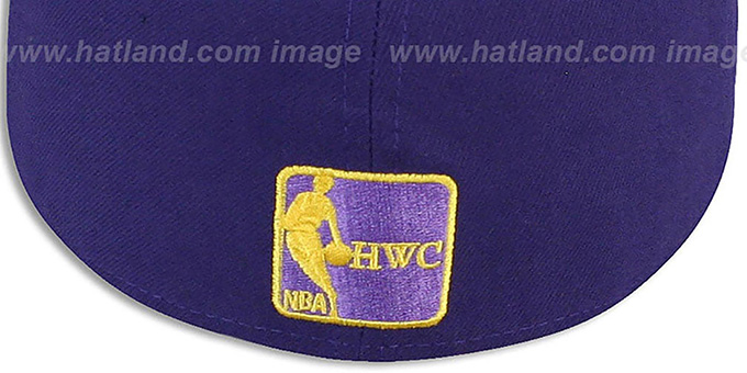 Lakers 'HWC-TIGHT' Purple-Black Fitted Hat by New Era