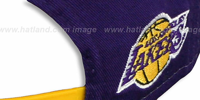 Lakers 'MARVEL RETRO-SLICE SNAPBACK' Purple-Gold Hat by New Era