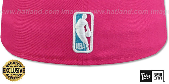 Lakers 'MIAMI VICE' Beetroot-Blue Fitted Hat by New Era