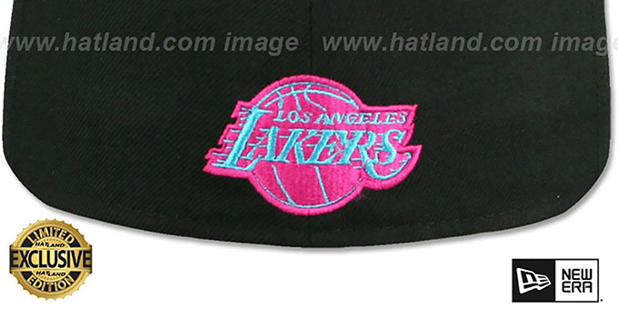 Lakers 'MIAMI VICE' Black-Beetroot Fitted Hat by New Era