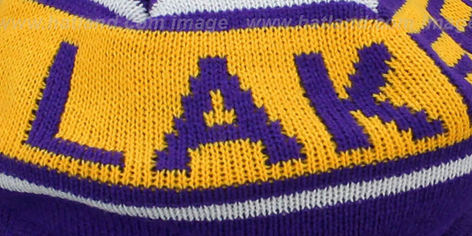 Lakers 'RERUN KNIT BEANIE' by Mitchell and Ness