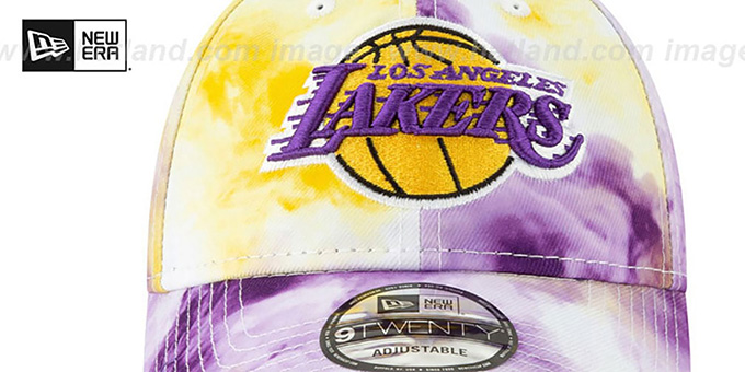 Lakers 'TIE-DYE STRAPBACK' Hat by New Era