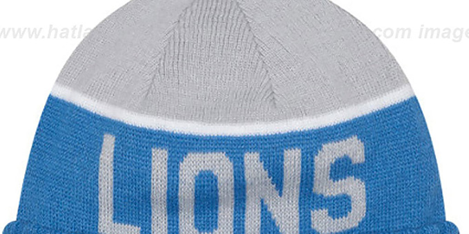 Lions '2015 STADIUM' Blue-Grey Knit Beanie Hat by New Era