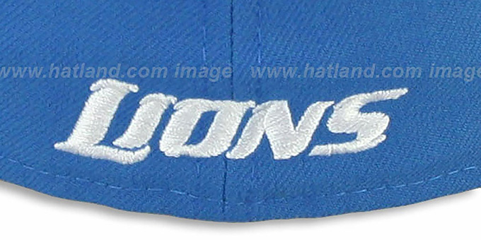 Lions 'NFL 2T-TEAM-BASIC' Blue-Grey Fitted Hat by New Era