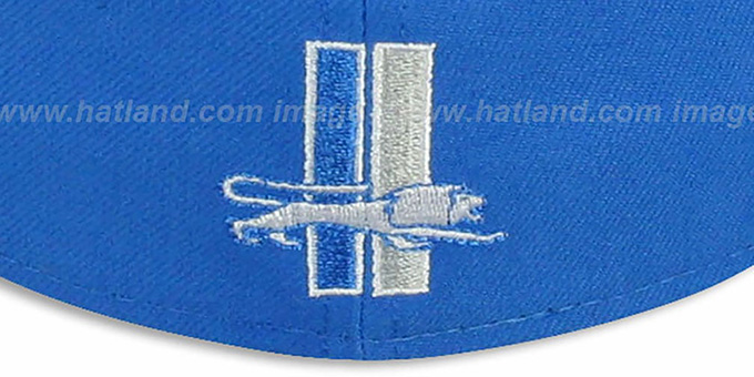 Lions 'NFL 2T THROWBACK TEAM-BASIC' Blue-Grey Fitted Hat by New Era