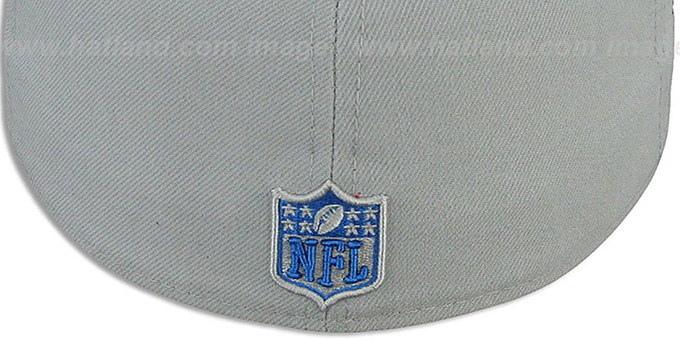 Lions 'NFL-TIGHT' Grey-Blue Fitted Hat by New Era