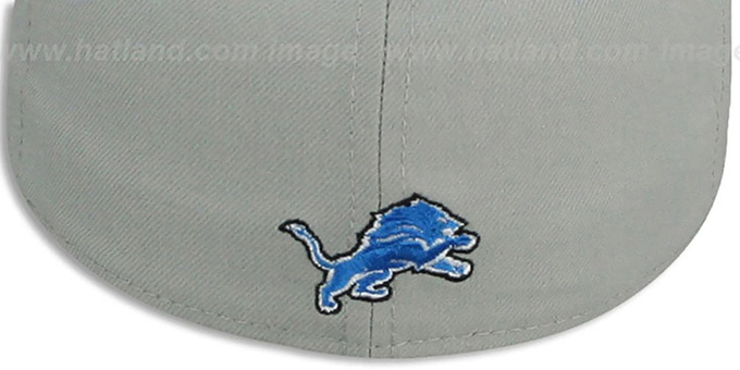 Lions 'TRACE-POP' Grey-Blue Fitted Hat by New Era