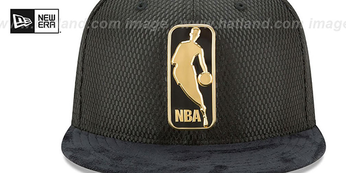 Logoman '2017 ONCOURT' Black-Gold Fitted Hat by New Era
