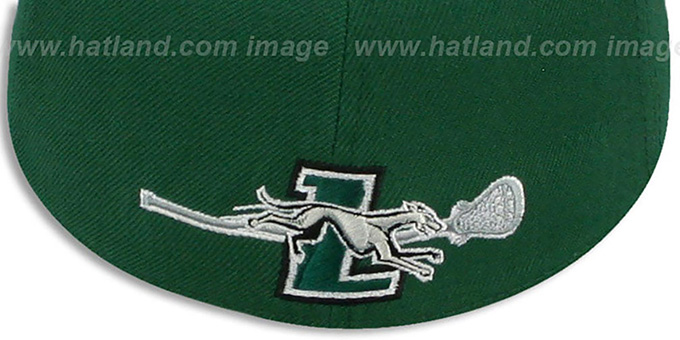Loyola 'SWOOP LACROSSE' Green Fitted Hat by Zephyr